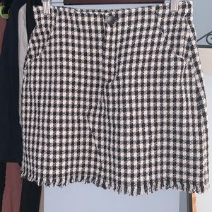 Tweed Mini Skirt— Zara